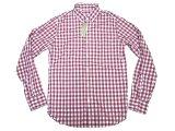 J.CREW LIGHT WEIGHT B.D Shirts 赤紫×白 ギンガム・ボタンダウン・シャツ
