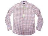 J.CREW 2-Ply Cotton Gingham B.D. Shirts 赤×ブルー×白 ボタン・ダウンシャツ