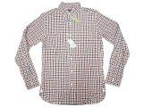 J.CREW 2-Ply Cotton Gingham B.D. Shirts 紺×朱赤×白 ボタン・ダウンシャツ