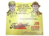 Thorogood JOB FITTED WORK SHOES AD Pasteboard #1 Deadstock 1960'S