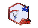 """Vintage Pins(ヴィンテージ・ピンズ)#0185  """"AIR Red"""" Pins Made in France"""