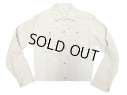 画像1: Deadstock 1970'S Unkown Brand  Cotton Twill Selvedge Denim JK Made in USA