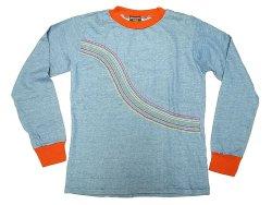 画像1: Deadstock 1960-70'S VANDERBILT Long Sleeve Tee 虹刺繍 ロンT アメリカ製