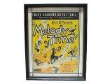 "WALT Disney's 1948'S ""Melody Time"" ディズニー[『メロディタイム』サイン 額装"