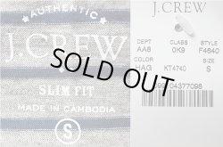 画像4: J.CREW SLIM Border Pocket-Tee ジェイ・クルー ボーダーポケTee 杢×青緑