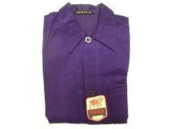 画像4: Deadstock 1960'S DETIS Cotton Satin Work JK 紺コットン・サテン EU製