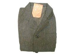 画像1: Deadstock 1950'S European Black Chambray Work Coat 黒シャンブレー Kids EU製