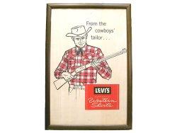 画像1: LEVI'S AUTHENTIC WESTERN SHIRTS From the Cowboy's Tailor Sign 額装