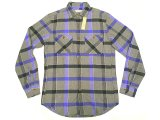 WALLACE & BARNES by J.Crew Plaid Flannel Shirts 青×灰 へヴィフランネル