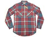 WALLACE & BARNES by J.Crew Plaid Flannel Shirts 青緑×赤 へヴィフランネル