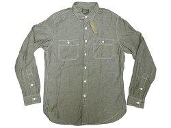 画像1: J.CREW SPTG Gray Chambray Shirts Chin-Strap  One Wash加工 シャンブレー