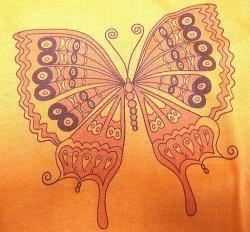 """画像2: Deadstock 1970-80'S Champion Tシャツ 【Women's】""""Butterfly""""アメリカ製"""