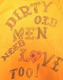 "画像2: Deadstock 1980'S Champion T【Women's】""Darty old men need love too""USA製"