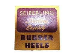画像1: Deadstock 1950-60'S SEIBERING RUBBER HEELS BLACK 9-10 USA製 箱付