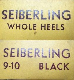 画像2: Deadstock 1950-60'S SEIBERING RUBBER HEELS BLACK 9-10 USA製 箱付
