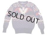 POLO Ralph LaurenJacquad Sweater ポロ・サンダーバード柄 リネン混 セーター