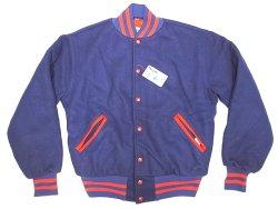 画像2: Deadstock 1990'S MAPLE VARSITY JK メイプル メルトン スタジャン USA製 青×赤