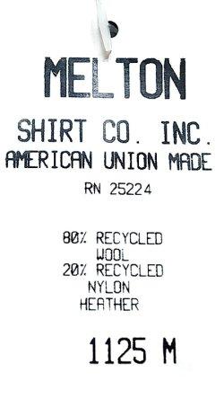画像5: Deadstock 1980-90'S Melton Outer Wear メルトン CPO JK 灰ウール Made in USA