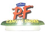 """P.F"" CANVAS SHOES by B.F.Goodrich AD Pasteboard #1 Deadstock 1960'S"