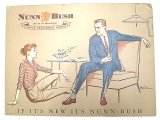 NUNN BUSH ANKLE-FASHIONED SHOES AD Pasteboard #2 Deadstock 1960'S