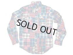 画像1: Ralph Lauren Plaid Patch-Work Flannel .B.D.Shirts パッチワーク フランネル