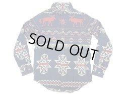 画像1: POLO Ralph Lauren Snow Flake CPO shirts JK Heavy Flannel 雪柄チンスト