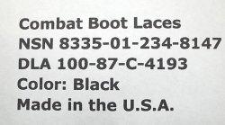 画像3: Deadstock 1987'S US Military Combat Boot Laces Black 90inch 黒 丸ヒモ USA製