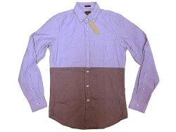 画像1: 【期間限定50%OFF】J.Crew Oxford 2tone B.D.Shirts 青×濃青 切替オックスフォード