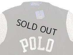 """画像3: POLO Ralph Lauren """"POLO"""" 2tone Long Sleeve T ポロ・ラルフ 黒×灰杢 ロンT"""