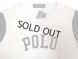 """画像3: POLO Ralph Lauren """"POLO"""" 2tone Long Sleeve T ポロ・ラルフ 白×紺 ロンT"""
