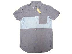 画像1: 【期間限定45%OFF】J.CREW  2tone Oxford B.D Shirts 切替 前開き 半袖シャツ