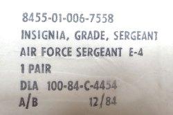 画像4: Deadstock 1984'S US.AIR FORCE SARGENT E-4 米軍実物 ピン・バッジ 袋入