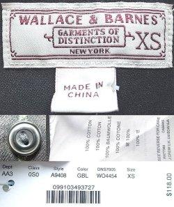 画像4: WALLACE & BARNES Cotton Twill Work Shirts ウォレス&バーンズ 黒ワーク