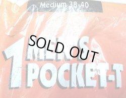 画像4: Deadstock 1995'S FRUIT OF THE LOOM Pocket-Tee 紺 M 綿100% USA製 袋入