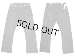画像1: Double RL(RRL) Black Bake Western STATZ Jeans Vintage加工 BlackTie USA製