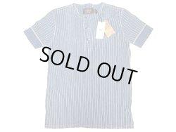 画像1: Double RL(RRL) Indigo Stripe Henley Neck Tee 藍染 ストライプ ヘンリー Tシャツ