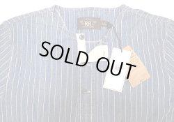 画像3: Double RL(RRL) Indigo Stripe Henley Neck Tee 藍染 ストライプ ヘンリー Tシャツ