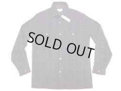 画像1: WALLACE & BARNES Wool CPO Shirts ウール CPO シャツ 紺×橙 格子柄