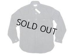 画像1: WALLACE & BARNES U.S.N. Melton CPO Shirts メルトン CPO シャツ 黒