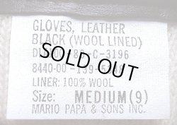 画像3: Deadstock 1980'S US.Military Leather Gloves(Wool Lined) 米軍 黒本革 手袋