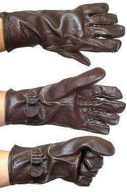 画像4: Deadstock 1940'S SWISS ARMY Leather Gloves WWIIスイス軍 本革手袋 茶