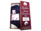 Deadstock 1940-50'S Bachelor's Friend Business Socks Navy 10H USA製 箱入#3