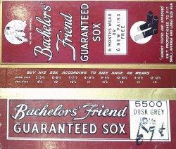 画像4: Deadstock 1940-50'S Bachelor's Friend Business Socks Dusk Gray USA製 箱入#1