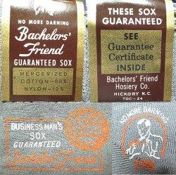 画像3: Deadstock 1940-50'S Bachelor's Friend Business Socks Dusk Gray USA製 箱入#1