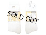 Deadstock 1980-90'S CAT(CATERPILLAR) Cushion Crew Socks 白 アメリカ製
