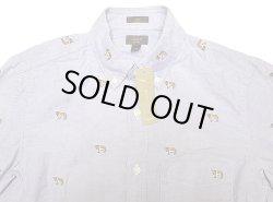 画像3: J.CREW Washed Oxford B.D. Shirts アルプス犬総柄 オックスフォード・ボタンダウン