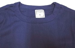 画像3: Deadstock 1990'S OLD FASHION Cotton Rib-Knit Ringer T 紺無地 USA製
