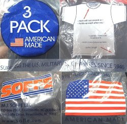画像4: Deadstock 2000'S SOFFE US MILITARY T-Shirts 紺 3PACK Made in USA 袋入