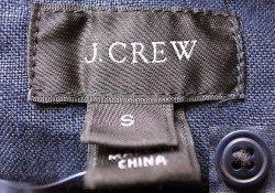 画像4: J.CREW Linen Navy P/O JK  ジェイ・クルー リネン(麻)スタンド・カラー JK 紺