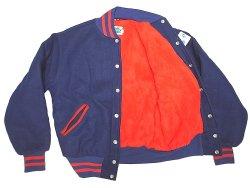 画像3: Deadstock 1990'S MAPLE VARSITY JK メイプル メルトン スタジャン USA製 青×赤